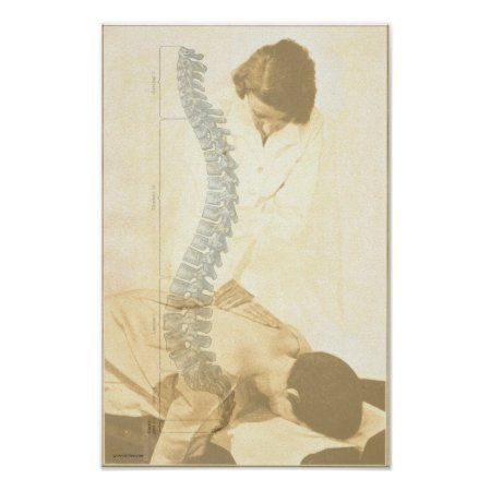 Chiropractic Spinal Adjustment Vintage Print