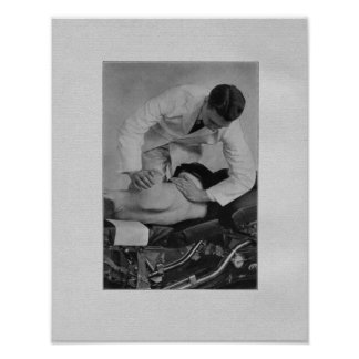 Chiropractic Spinal Adjustment Vintage Print