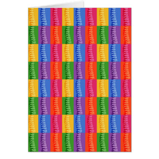 Chiropractic Spine Pop Art Note Cards