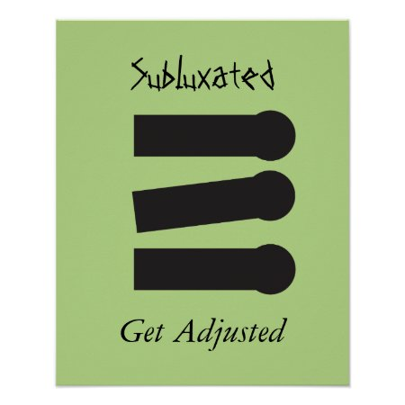 Chiropractic Subluxated Spine Poster Customize