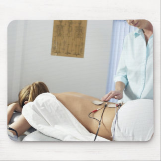 Chiropractic treatment. complaint in her mouse pad