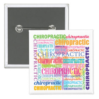 Chiropractic Word Collage Button