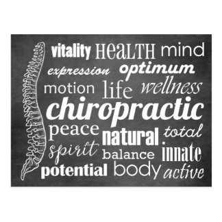 Chiropractic Word Collage Reactivation Recall Postcard