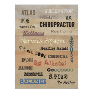 Chiropractic Words Office Poster