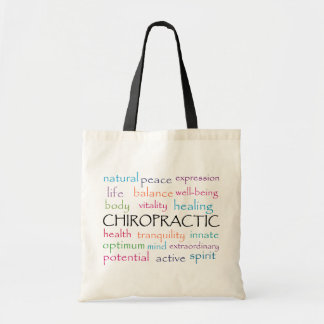 Chiropractic Words Tote Bag