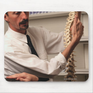 Chiropractor and Patient Mouse Pad