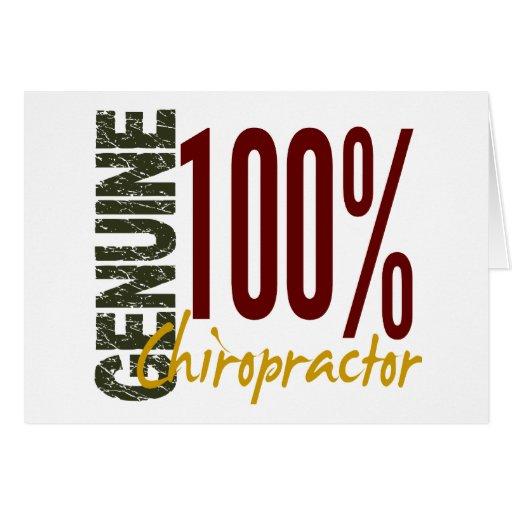 Chiropractor auténtico felicitación