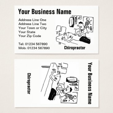 Chiropractor Cartoon Business Card