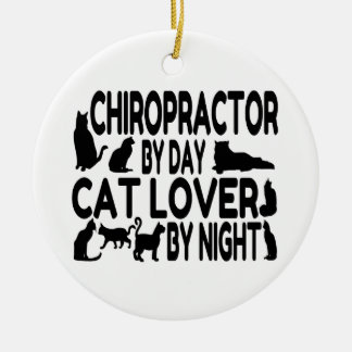 Chiropractor Cat Lover Ceramic Ornament