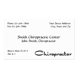Chiropractor Chiropractic Business Card