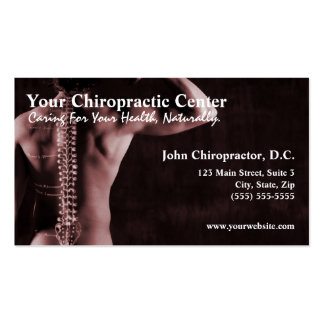 Chiropractor Chiropractic Business Cards