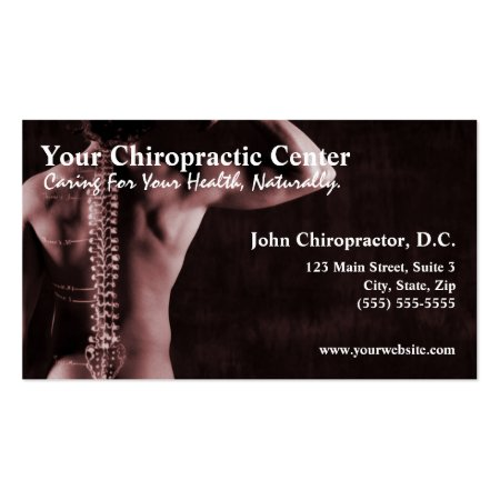 Man's Back and Spine Chiropractic Chiropractor Business Cards