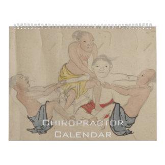 Chiropractor Chiropractic Therapist Watercolor Calendar