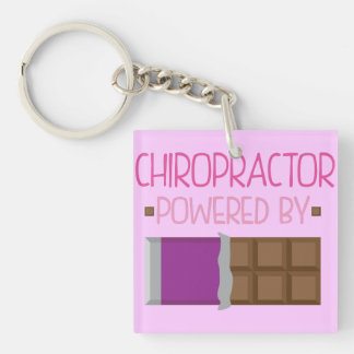Chiropractor Chocolate Gift for Woman Keychain