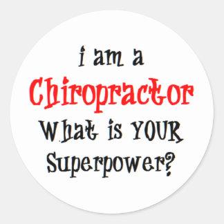 chiropractor classic round sticker