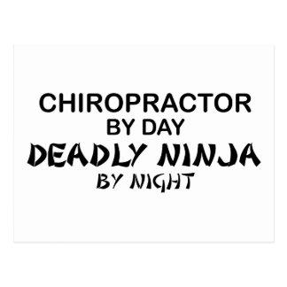Chiropractor Deadly Ninja by Night Postcard