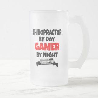Chiropractor del videojugador taza cristal mate