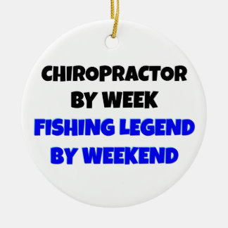 Chiropractor Fishing Legend Double-Sided Ceramic Round Christmas Ornament