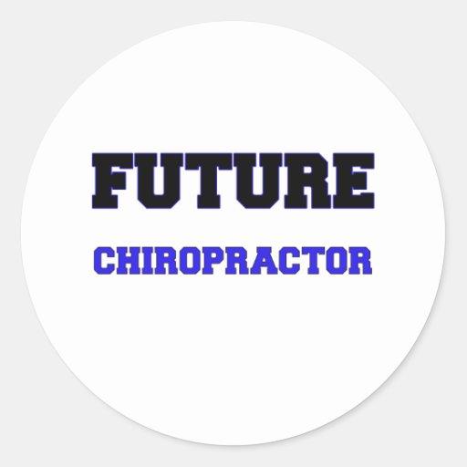 Chiropractor futuro pegatina redonda