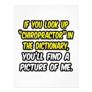 Chiropractor In Dictionary...My Picture Flyer