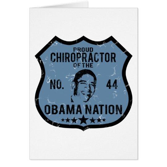 Chiropractor Obama Nation Card