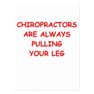 chiropractor postcard