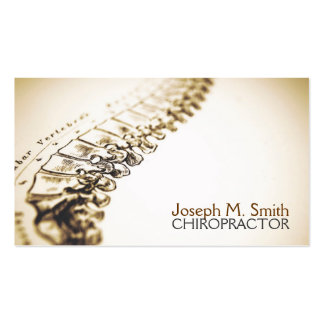 Chiropractor, quiropráctica, tarjeta de visita de