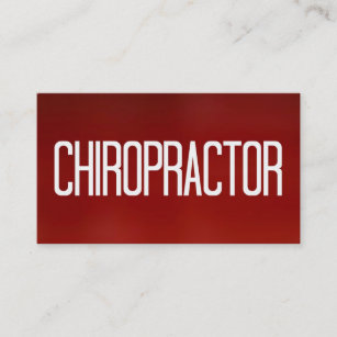 Chiropractic business cards zazzle chiropractor red business card colourmoves