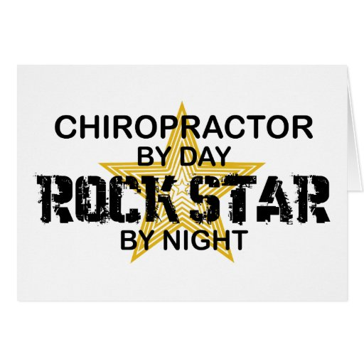 Chiropractor Rock Star by Night Greeting Card