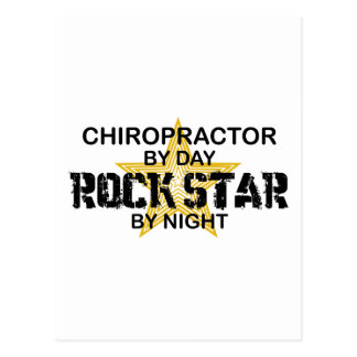 Chiropractor Rock Star by Night Postcard