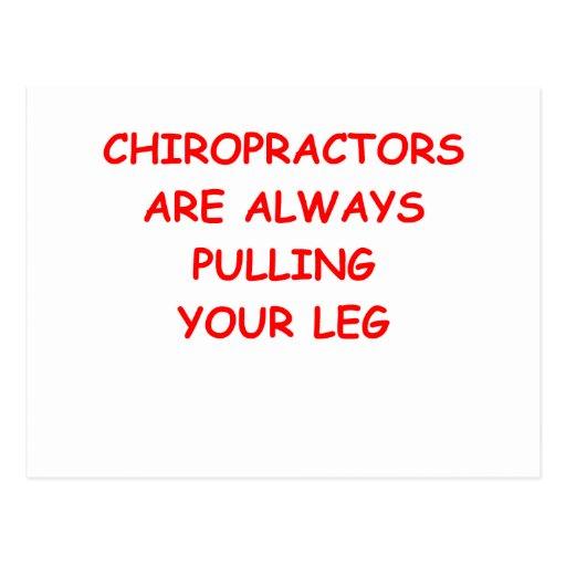 chiropractor tarjetas postales