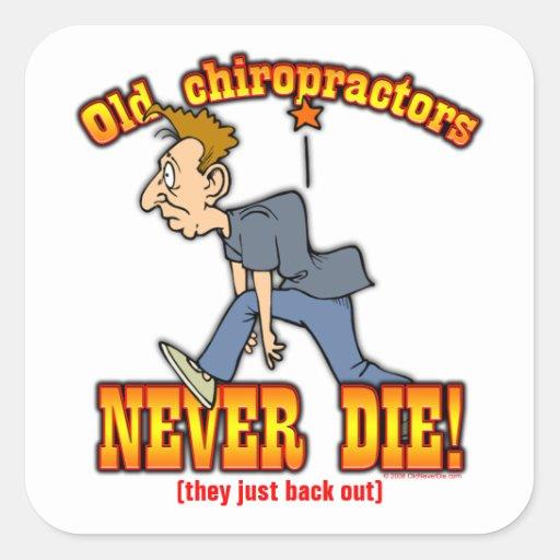 Chiropractors Square Sticker
