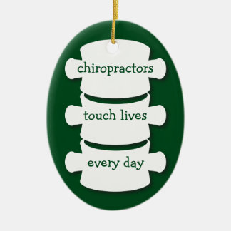 Chiropractors Touch Lives Personalized Ornament