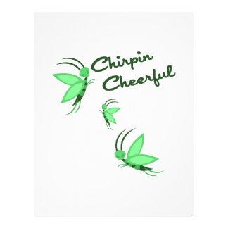 Chirpin Cheerful Custom Letterhead