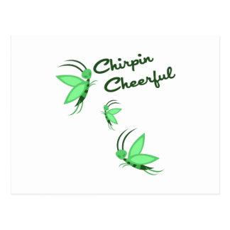 Chirpin Cheerful Postcard