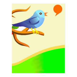 Chirping Bird ! Postcard