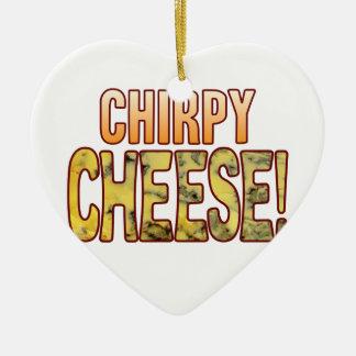 Chirpy Blue Cheese Ceramic Ornament