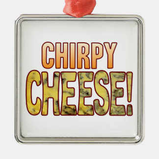 Chirpy Blue Cheese Metal Ornament