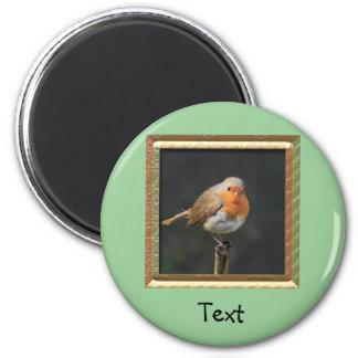 Chirpy Robin 2 Inch Round Magnet