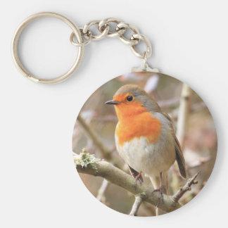 Chirpy Robin Basic Round Button Keychain