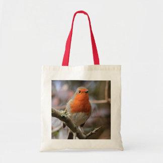 Chirpy Robin Tote Bag