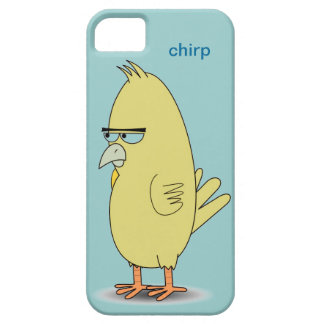 Chirrido divertido fresco de la palabra opcional iPhone 5 funda