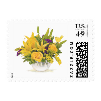 Chirrido en el florero de la burbuja de flores sello postal