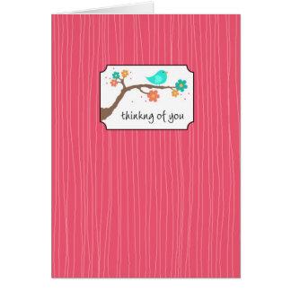 Chirrido en rama - pensando en usted tarjeta de felicitación