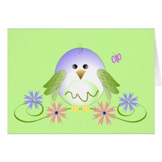 Chirrido lindo tarjeta de felicitación