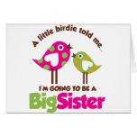 Chirrido que va a ser una hermana grande felicitación