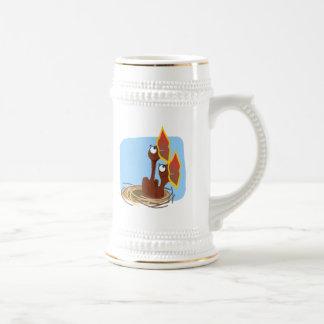 Chirridos hambrientos tazas de café