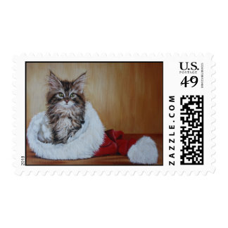 Chirstmas Kitten Postage