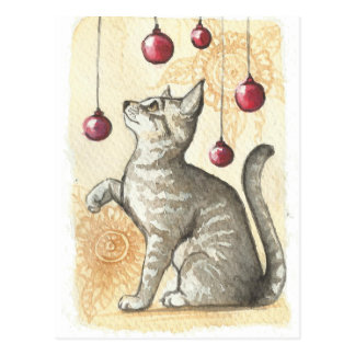 Chirstmas Kitty Postcard