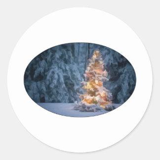 Chirstmas Tree Classic Round Sticker